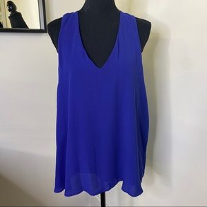Banana Republic Royal Blue Race Bank Fashion Tank